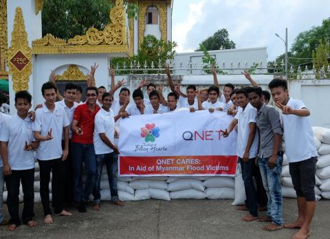 QNET contributes survivor kits for flood victims in Myanmar