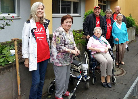 Gruppe mit Senioren