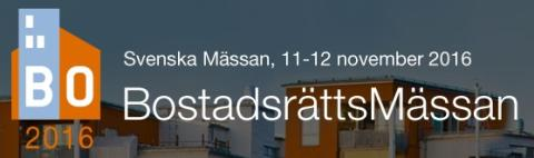 Besök oss på BostadsrättsMässan i Göteborg 11-12 november
