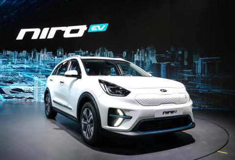 ​Kia Niro Electric med attraktiv SUV-design og god rekkevidde.