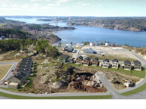 Brf Byfjorden - 3D-översiktsbild