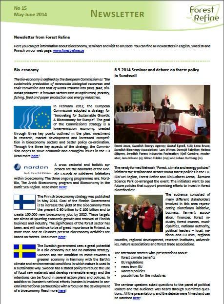 Forest Refine Newsletter No 15