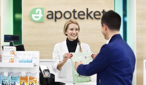 Apotekets delårsrapport januari-mars 2018: Ökad försäljning på konsumentmarknaden