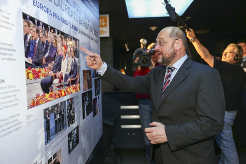 Martin Schulz opened Nobel Peace Center's exhibition in Brussels