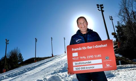 500 000 kronor får ännu fler barn att glida på snö