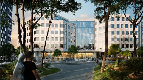 Skanska investerar cirka 560 miljoner kronor i kontorshuset Sthlm 04 i Hammarby Sjöstad, Stockholm