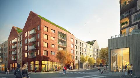 Riksbyggen satsar på Norra Tyresö Centrum med lägenheter för unga vuxna och fokus på hållbarhet
