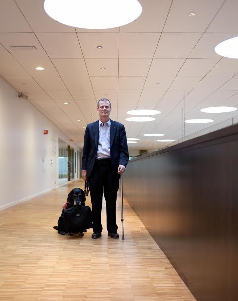 Scandics handikapsambassadør Magnus Berglund og Ada