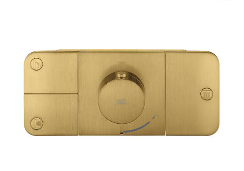 Axor One_Thermostat_Brushed_Gold_Optic