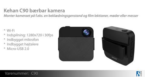 Smart og diskret kamera, du kan tage med overalt!