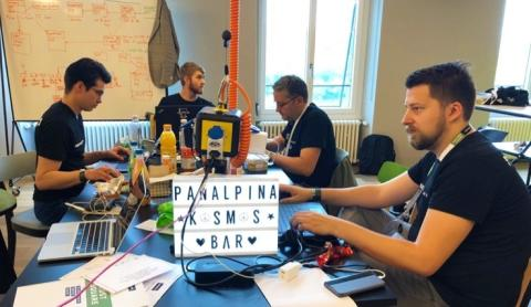 Panalpina's hacker team coding a blockchain solution to trace and authenticate pharma products