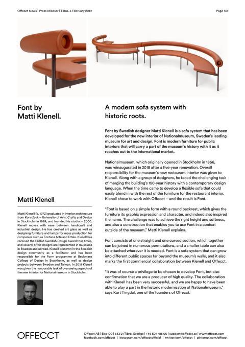 Offecct Press release Font by Matti Klenell_EN