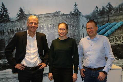 Bård Benum, Camilla Thorrud Larsen og Kjetil Storset