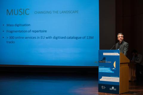 "Alfons Karabuda i EU-tal: ""Strong rights for the individual creator is key"""