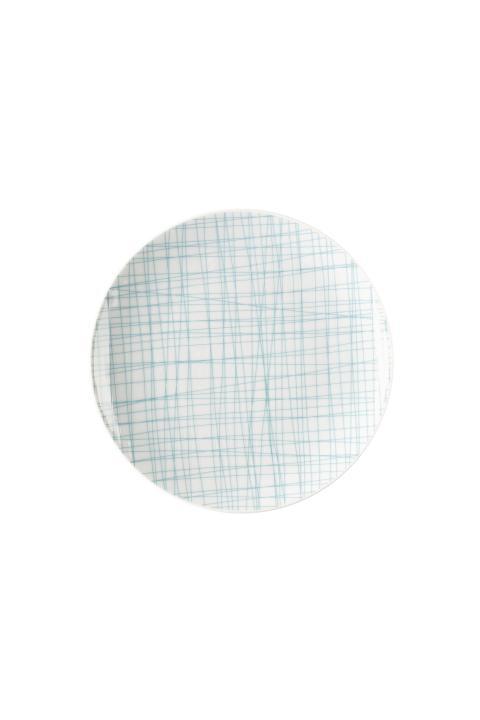 R_Mesh_Line Aqua_Plate 19 cm flat