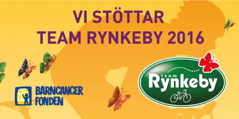 SBM stödjer barncancerfonden 2016 genom att sponsra team Rynkeby