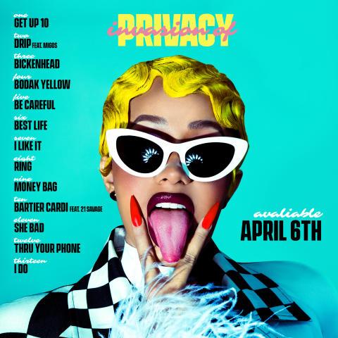 "Cardi B släpper debutalbumet ""Invasion of Privacy"" 6 april"