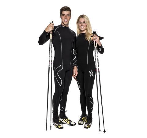 Längdskidåkarna Calle Halfvarsson och Jennie Öberg nya 2XU ambassadörer