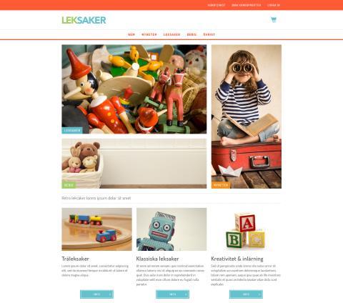 Exempel e-handelssida Starweb