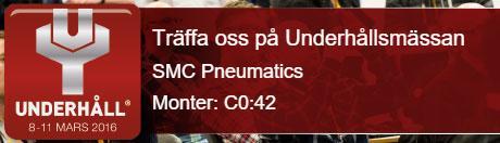 SMC Pneumatics ställer ut på Underhållsmässan 2016