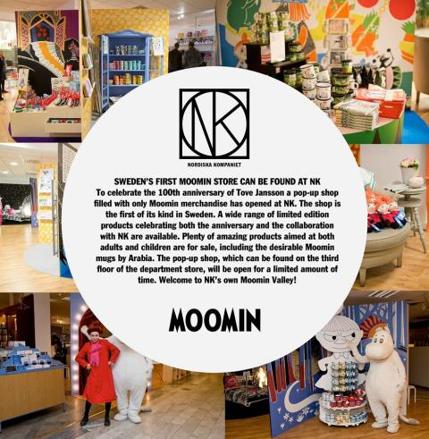 SWEDEN'S FIRST MOOMIN STORE NOW OPEN!