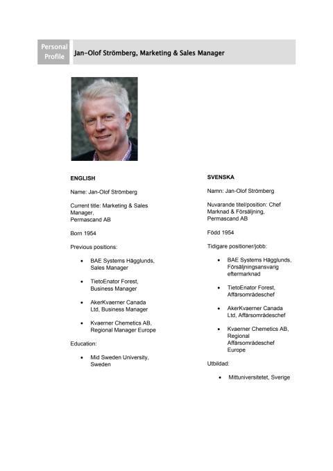 Jan-Olof Strömberg - Personprofil
