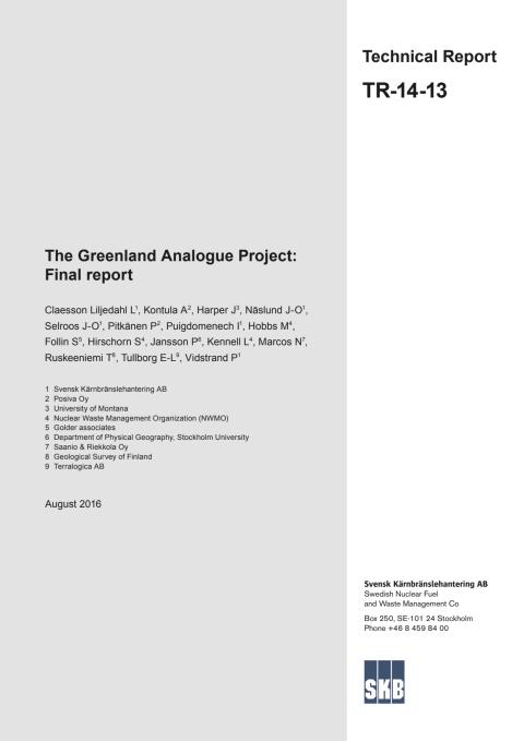 The Greenland Analogue Project: Final Report