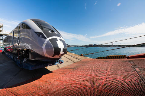 First of TPE's bullet train inspired fleet arrives in the UK