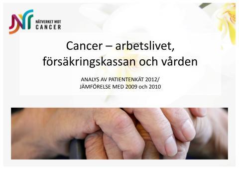 Nationella cancerenkäten - enkätanalys och presentation