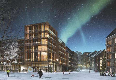 Arkitema ritar ny stadsdel i Östersund