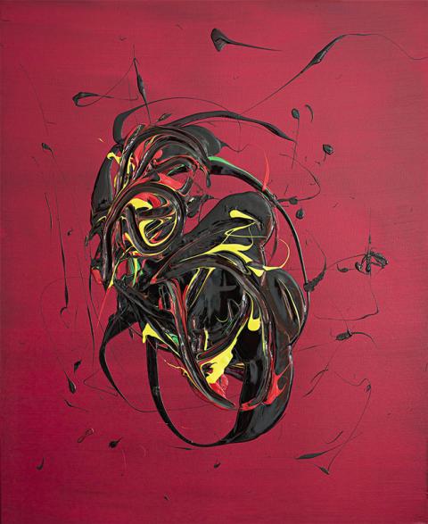 Flugan. Akryl på canvas 120 x 100