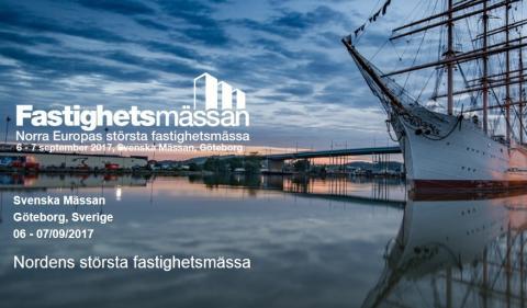 Besök oss på Fastighetsmässan i Göteborg 6-7 september