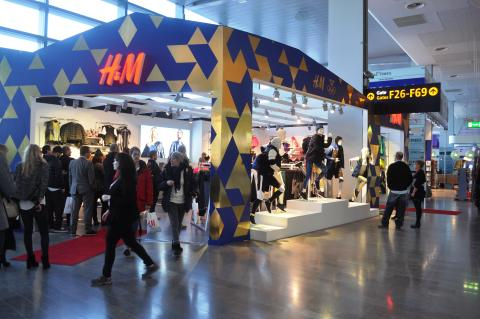 H&M pop up-butik