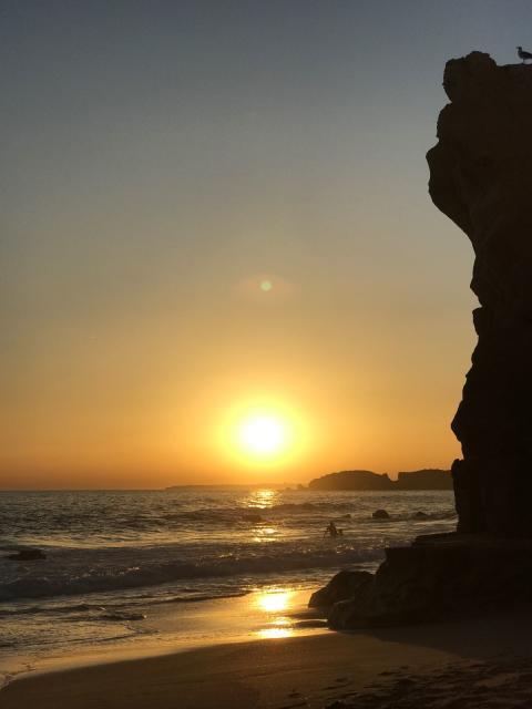 Solnedgång Algarve 1
