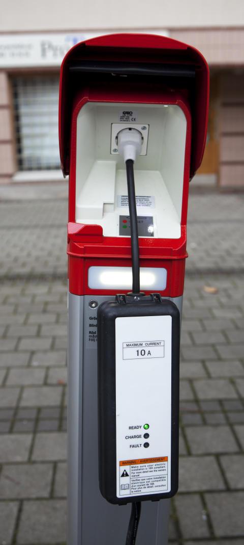 Laddningsstolpe för elbil