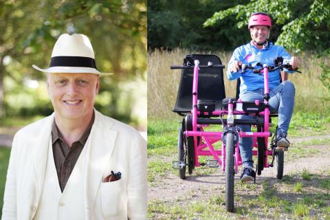 Bo Hejlskov Elvén hittar på hyss med cykelkampanj för bättre LSS-hem på Almedalen