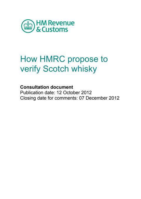 HMRC verification of Scotch whisky