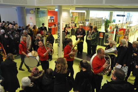 Invigningen av Väsbys nya bibliotek