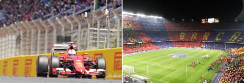 Urheilutapahtumat Barcelonassa - Formula 1 ja jalkapalloa