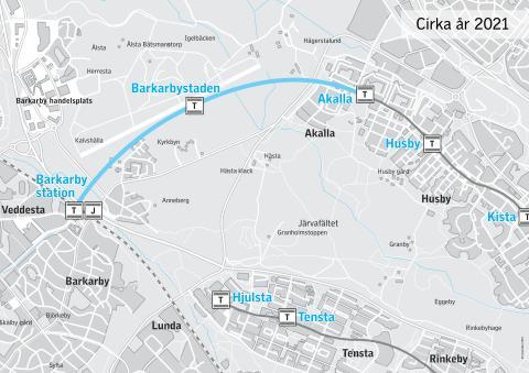 Tyréns, Ramböll och White får stororder i T-baneprojekt Akalla - Barkarby station