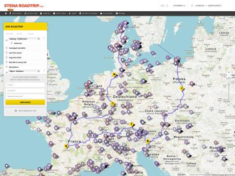 Planera bilresan i Europa på stenaroadtrip.com