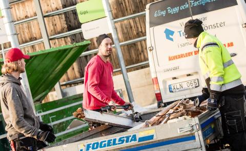Återvinningscentralen i Forsbacka renodlas för företag