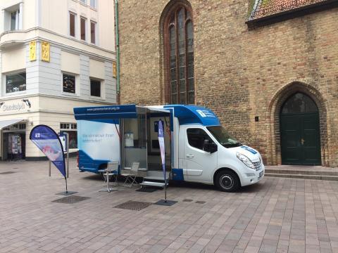 Beratungsmobil der Unabhängigen Patientenberatung kommt am 16. Januar nach Flensburg.