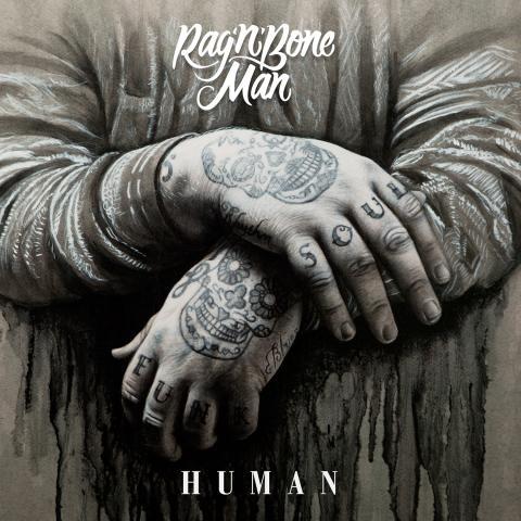 """Rag'n'Bone Man - """"Human"""" singelomslag"""
