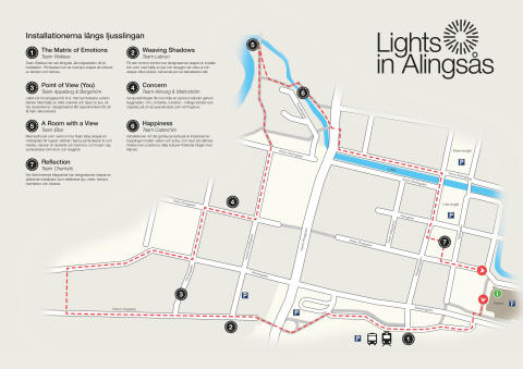 Trail for Lights in Alingsås 2017 defined