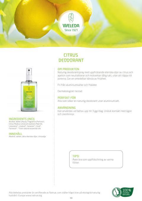 Citrus Deodorant