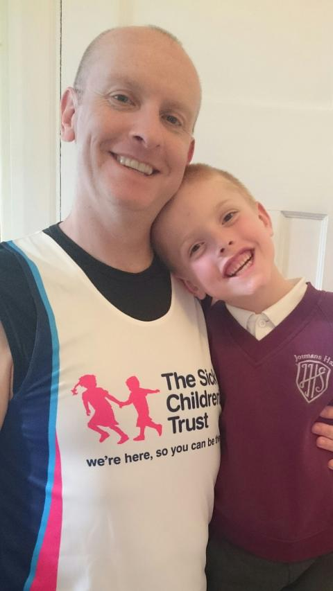 South Benfleet Dad Laces Up Trainers To Raise Money For The Sick Children's Trust