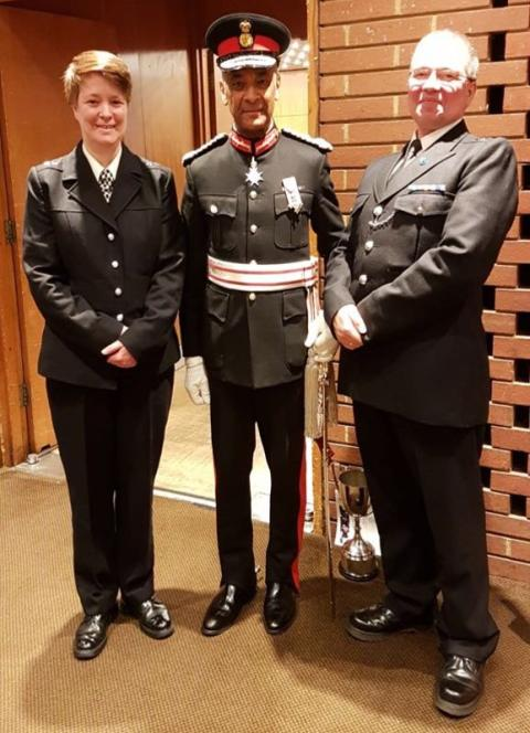 Sir Ken Olisa, PC Richardson  and PC Mann