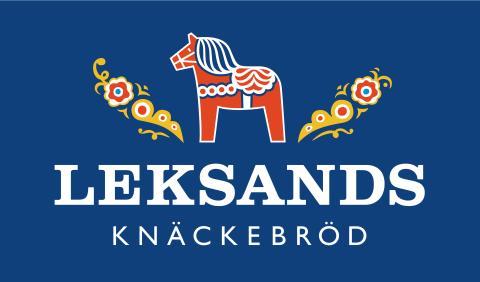 Leksand logotyp blå knäckebröd