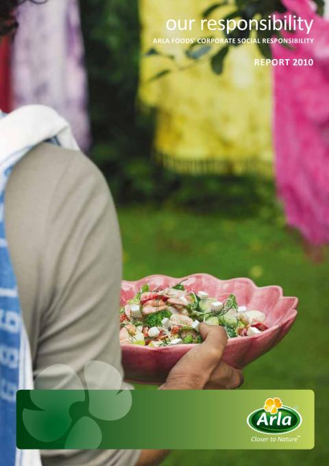 Arla Foodsin kestävän kehityksen vastuullisuusraportti